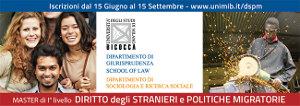 Master sul Diritto degli Stranieri e Politiche Migratorie